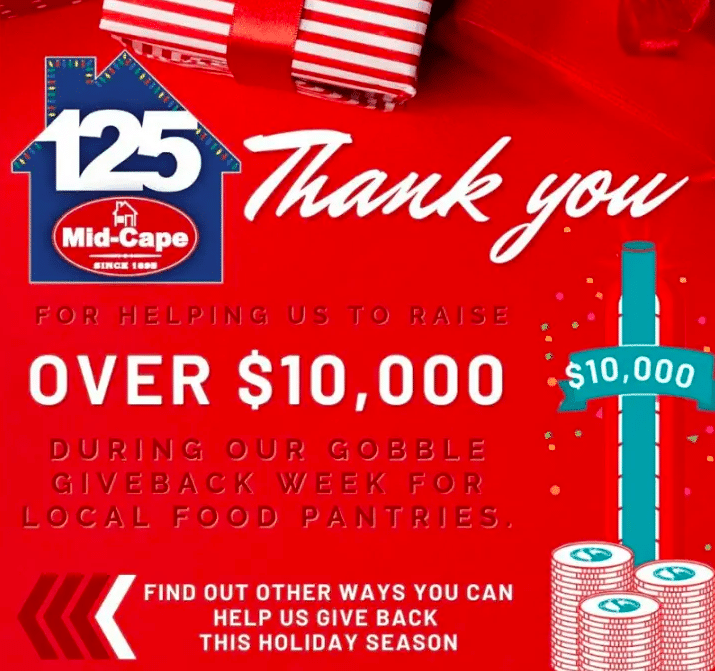 Mid-Cape Raises over $10,000 for Local Food Pantries