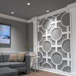 Ekena millwork white decorative wall panel